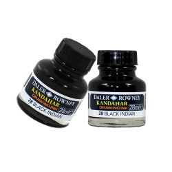 Kandahar black drawing ink  - 28ml