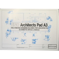 UNO Architect Pad A3 25 sheets