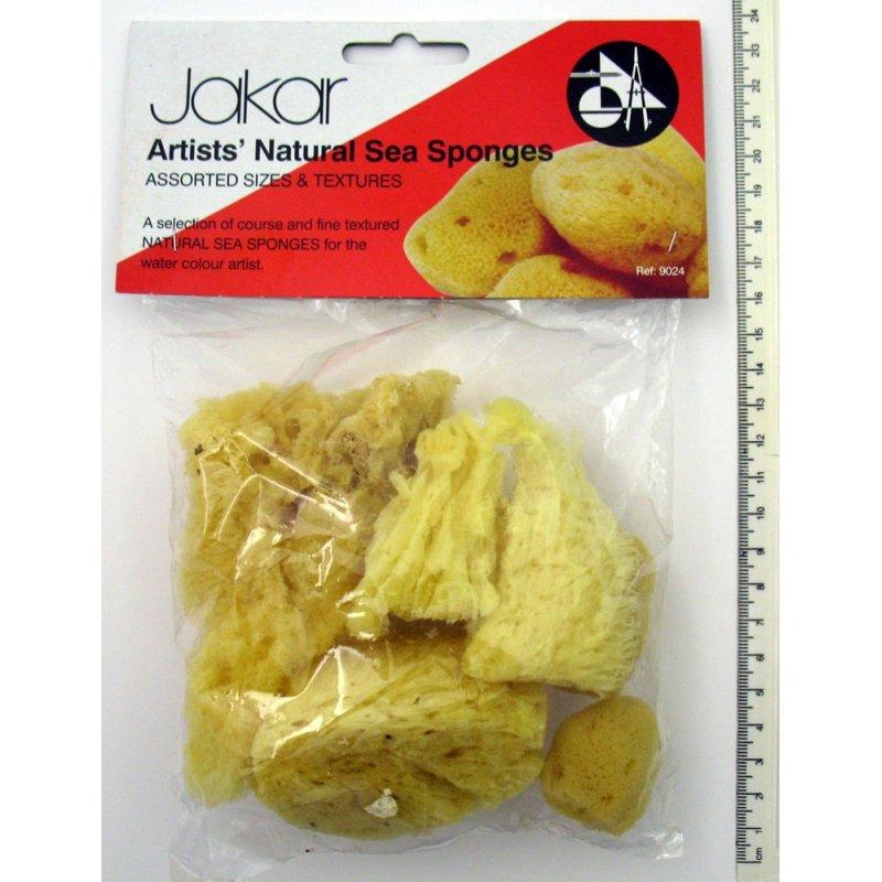 Jakar Natural Sea Sponges - Variety Pack