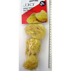 Jakar Natural Sea Sponges - 3 assorted coarse textured