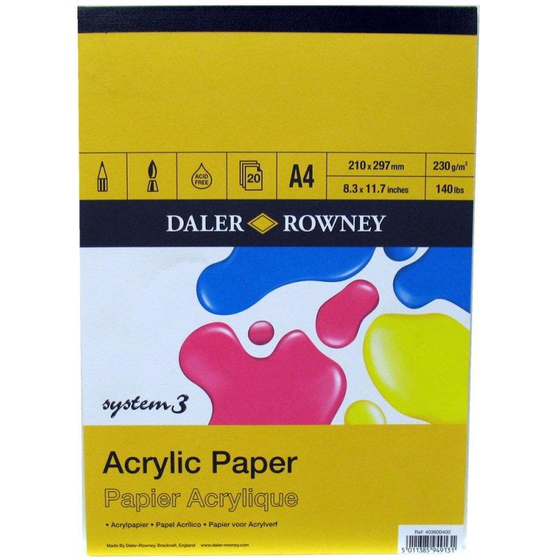 Daler Rowney System 3 Acrylic Pad A2 A3 A4 A5