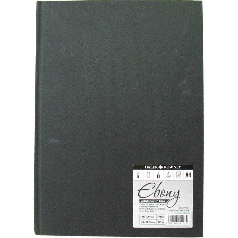 Daler Rowney Ebony Hardback Sketchbooks 150gsm