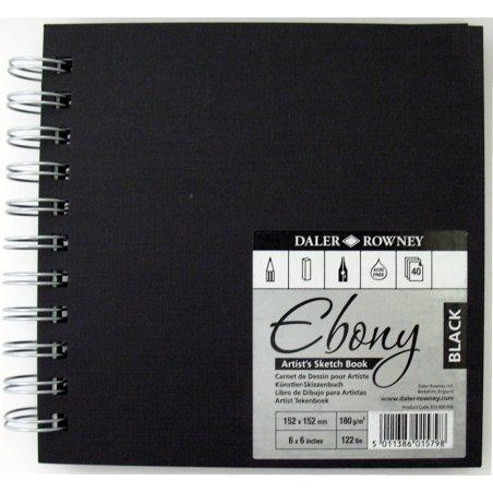 Daler Rowney Ebony Spiral Sketchbooks Black Paper