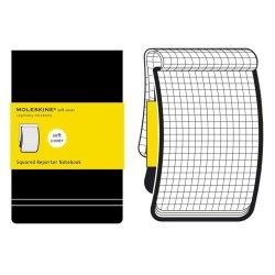 Moleskine Squared Black Reporter Notebook - Pocket - soft cover - 90 x 140mm