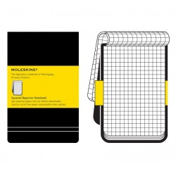 Moleskine Squared Black Reporters Notebook - hard cover - Large 130 x 210mm