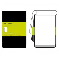Moleskine Plain Black Reporters Notebook - hard cover - Large 130 x 210mm