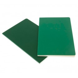 Moleskine Plain Volant Notebook Set - green - soft cover - Large 130 x 210mm