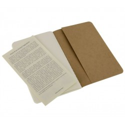 Moleskine set of 3 plain journals - kraft brown -soft cover - Pocket 90 x 140mm