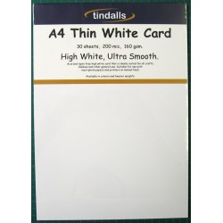 Tindalls A4 Thin White Card 160gsm