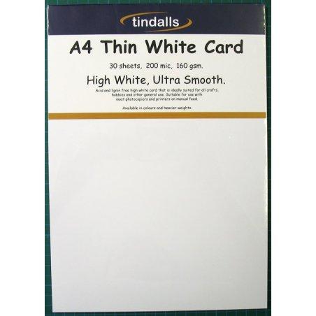 Tindalls A4 Thin White Card 160gsm