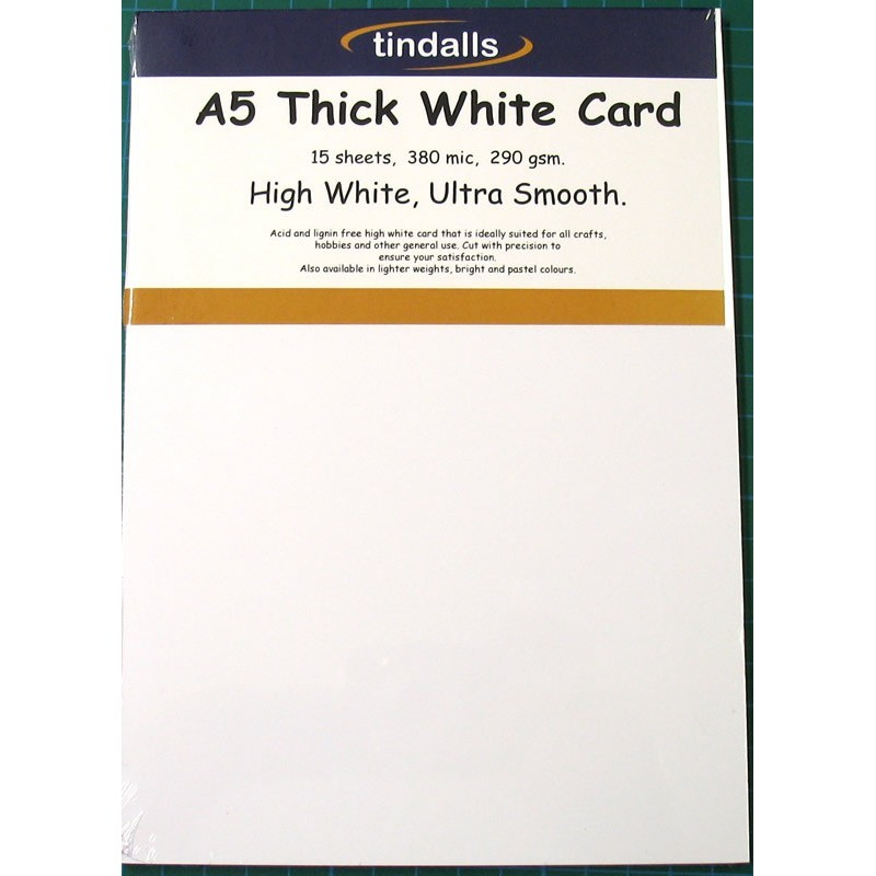 Tindalls A5 Thick White Card 290gsm