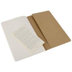 Moleskine set of 3 plain journals - kraft brown -soft cover - Large 130 x 210mm