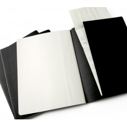 Moleskine set of 3 squared journals - black -soft cover - X Large 190 x 250mm