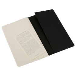 Moleskine set of 3 plain journals - black -soft cover - X Large 190 x 250mm
