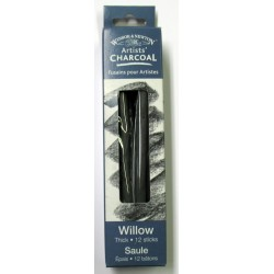 Willow Charcoal - Thick 12 Sticks