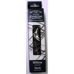 Willow Charcoal - Assorted / Thin/Medium / Thick Sticks