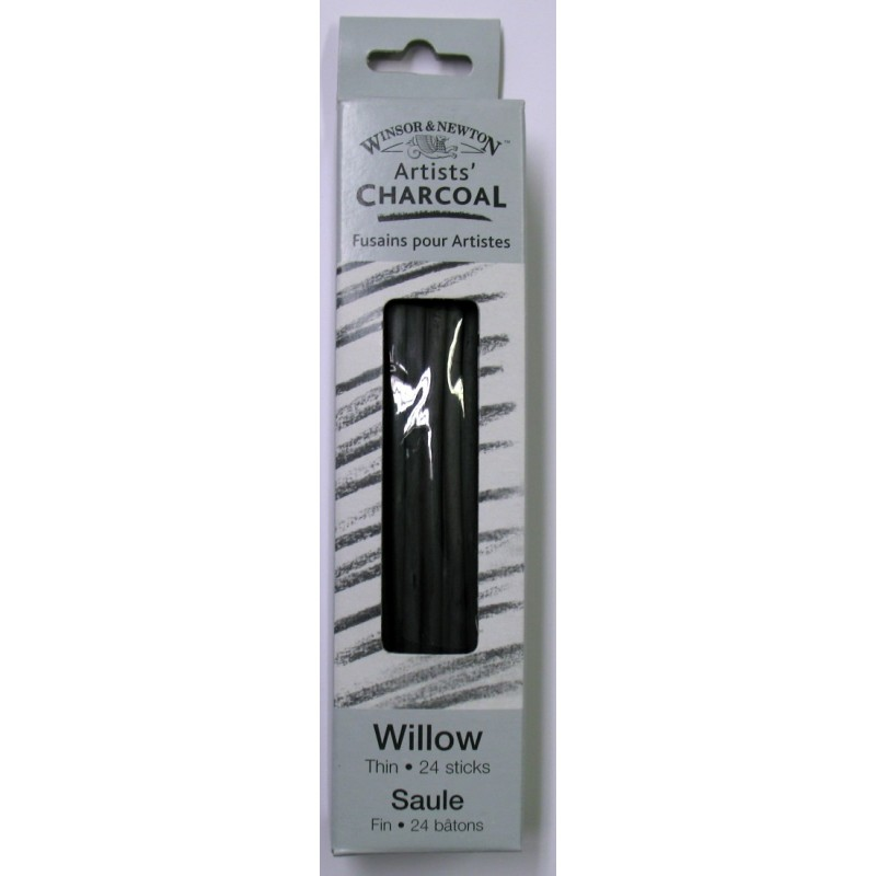 Willow Charcoal - Thin 24 Sticks
