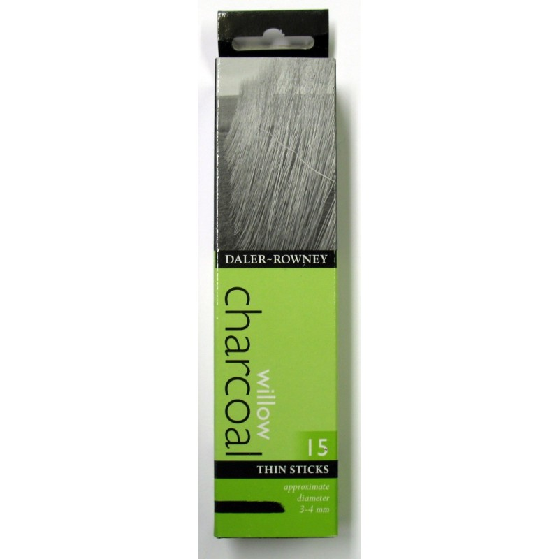 Willow Charcoal - Thin 15 Sticks