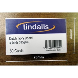 Tindalls Plain Visiting Cards