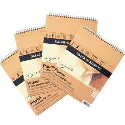 Ingres Pastel Spiral Pad - 3 Assorted Whites
