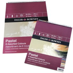 Ingres Pastel Spiral Pad -  6 Assorted Colours