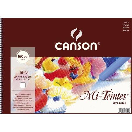 Canson Mi-Teintes Pastel Spiral Pad 24x32cm 160gsm