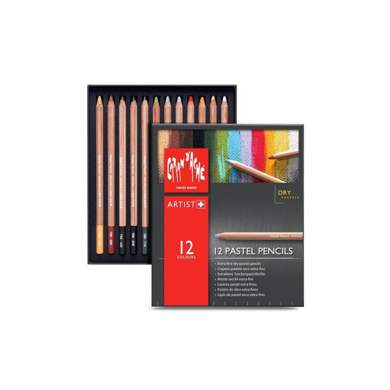 Caran D'Ache Professional Pastel Pencils box of 12