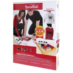 Speedball Super Value Screen Printing Kit - for fabrics