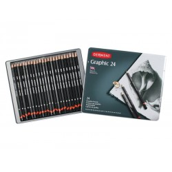 Derwent Graphic Pencils Tin of 24