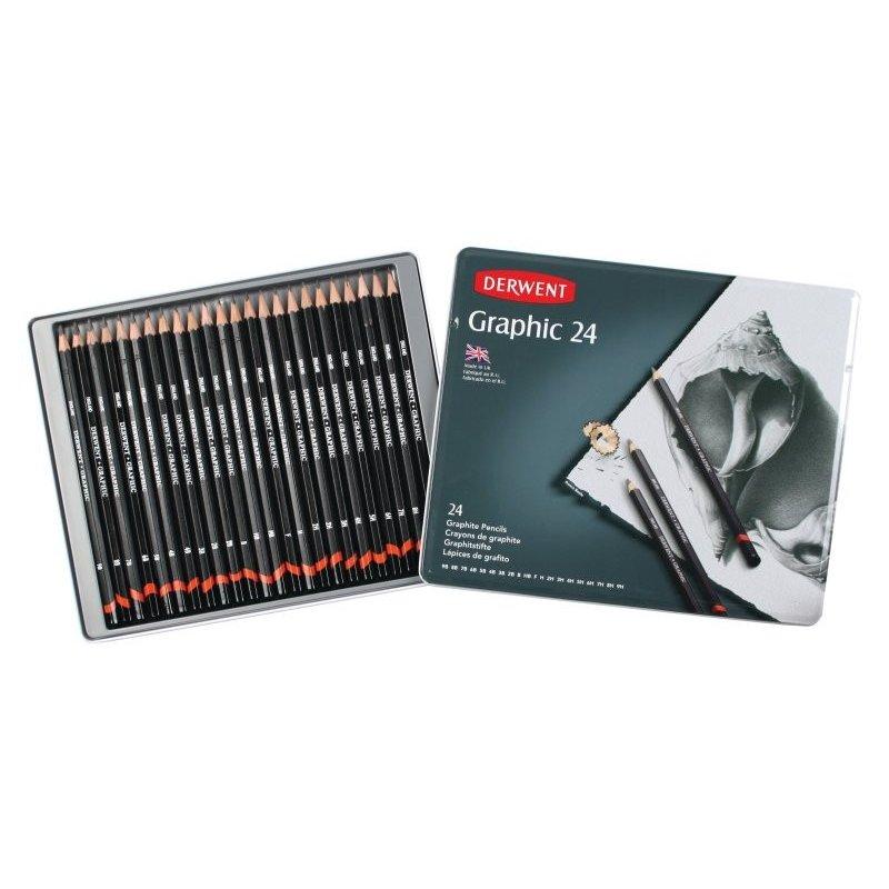 Derwent Graphic Pencils Tin of 24