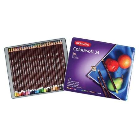 Derwent Coloursoft Pencils Tin of 24