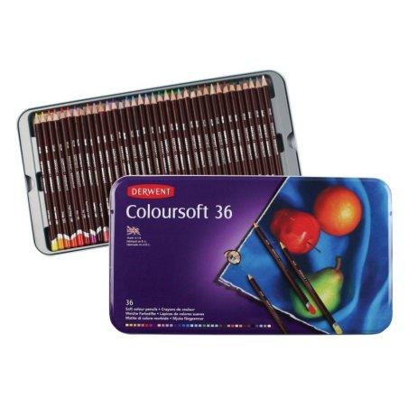 Derwent Coloursoft Pencils Tin of 36