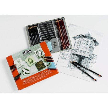 Derwent Sketching Collection Tin of 24