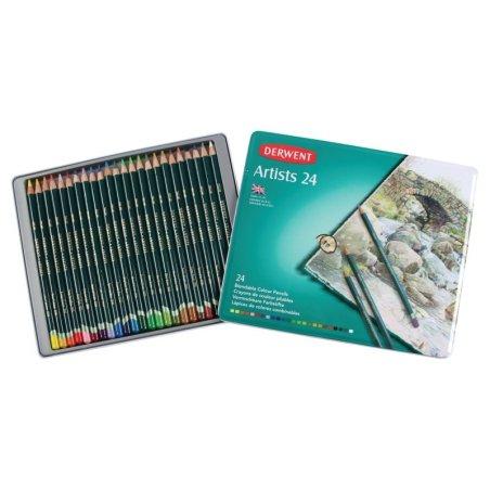 Derwent artist pencils tin of 24