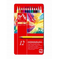 Caran D'Ache SUPRACOLOR® Soft Aquarelle - tin of 12