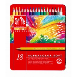 Caran D'Ache SUPRACOLOR® Soft Aquarelle - tin of 18