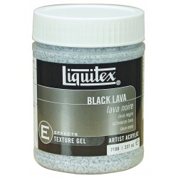Liquitex textured medium - black lava -  237ml