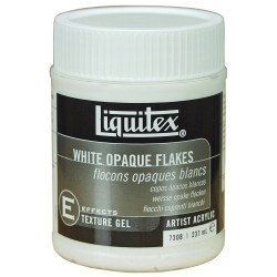 Liquitex textured medium - White Opaque Flakes -  237ml