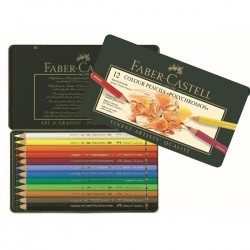 Polychromos artists colour pencils - tin of 12