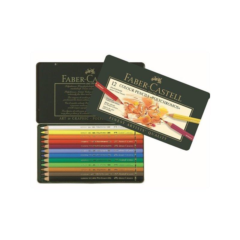 Polychromos artists colour pencils - tin of 12