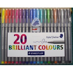 Staedtler Triplus Fineliner - set of 20