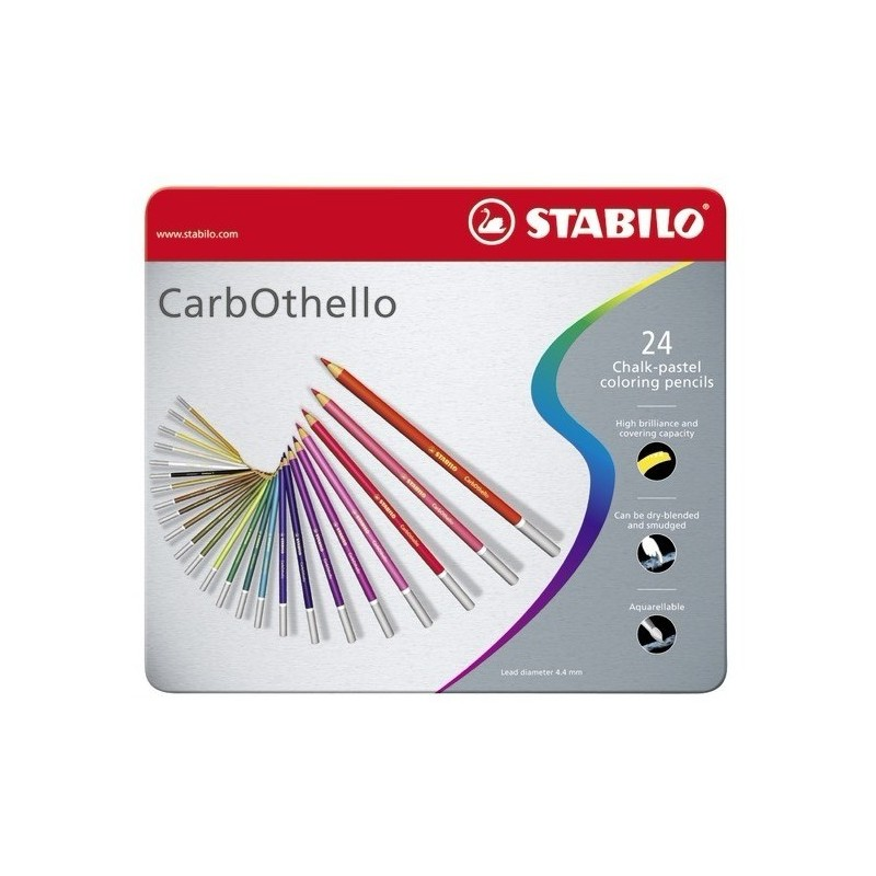 Stabilo Carbothello Pastel Pencils tin of 24