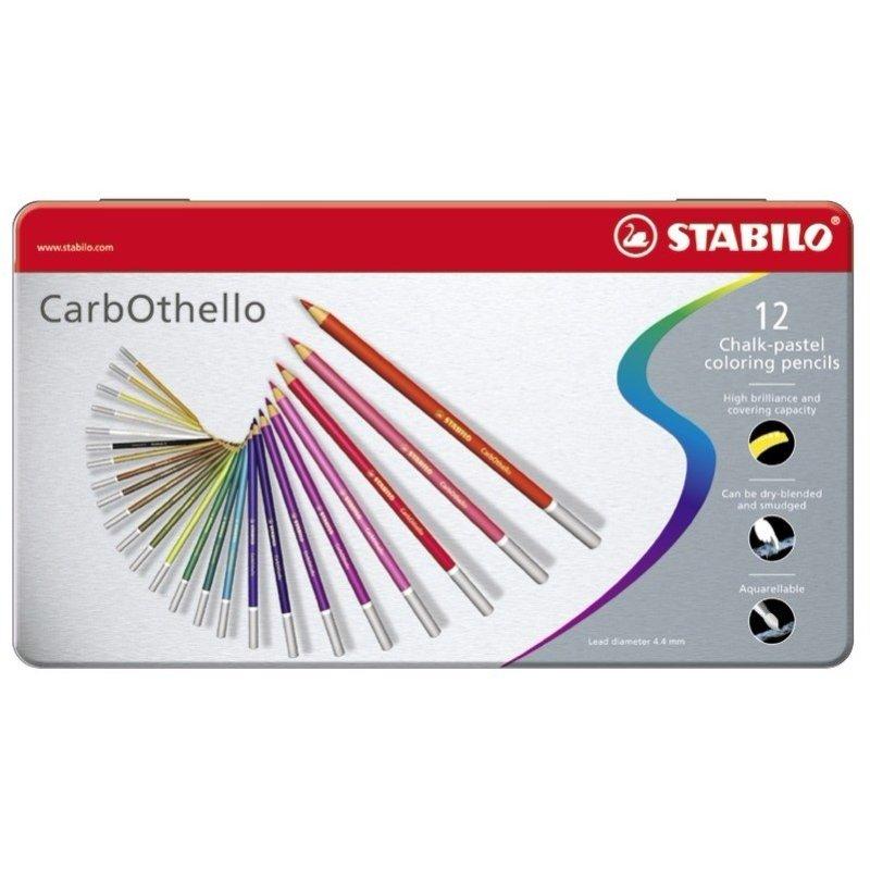 Stabilo Carbothello Pastel Pencils tin of 12