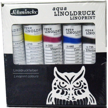 Schmincke Aqua Linoprint set of 5 x 20ml