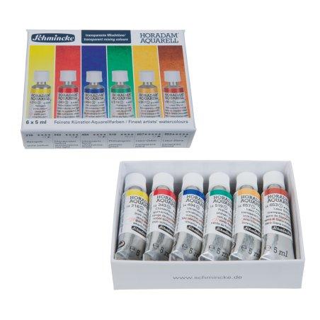 Schmincke Transparent Mixing Watercolours - set of 6 x 5ml tubes