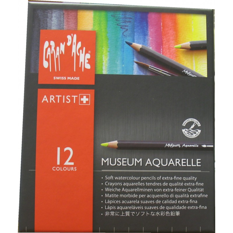 Caran D'Ache Professional Museum Aquarell - box of 12 assorted colours