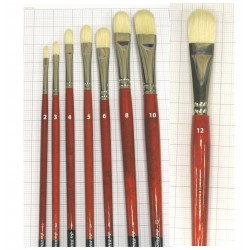 Series 5423 Maestro 2 bristle brush filbert