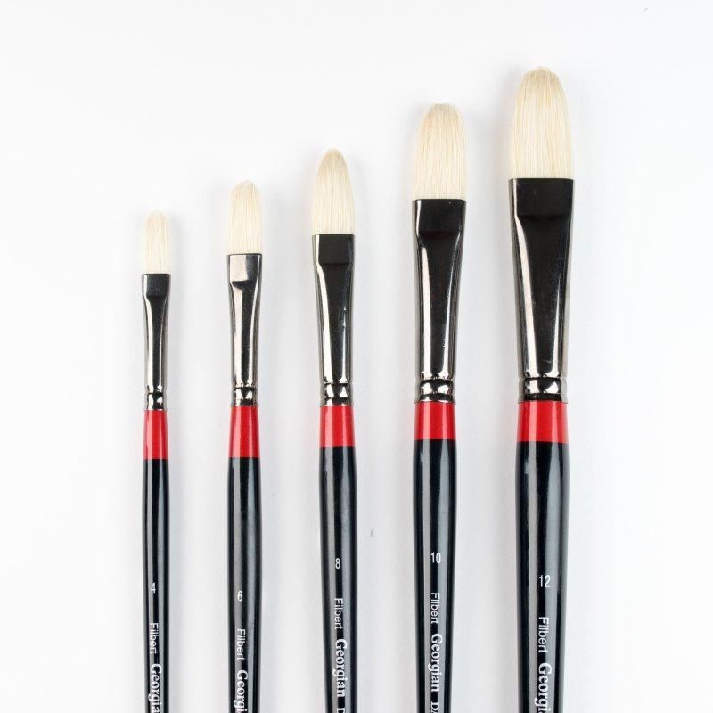 Georgian Oil Brushes - G12 - Filbert