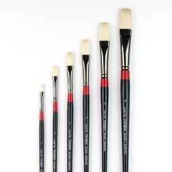 Georgian Oil Brushes - G48 - Long flat - size