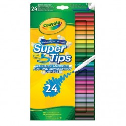 Crayola Supertips Washable Markers - pack of 24